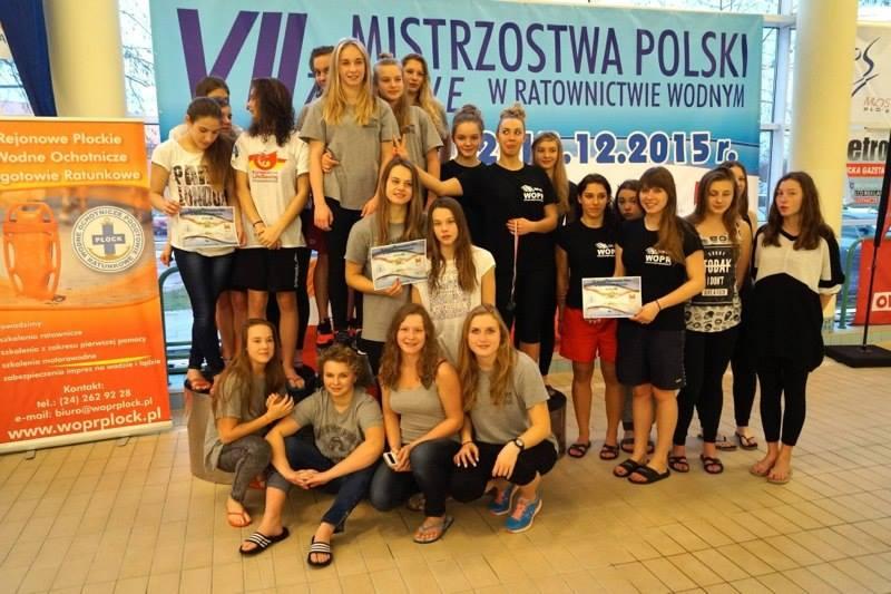 Klasyfikacja drużynowa kobiet: 1. Śląskie WOPR, 2. Dolnośląskie WOPR, 3. WOPR woj. łódzkiego