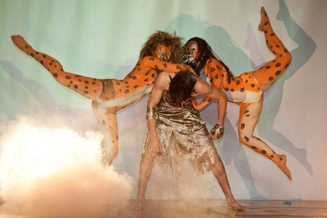 Tancerze podczas występu