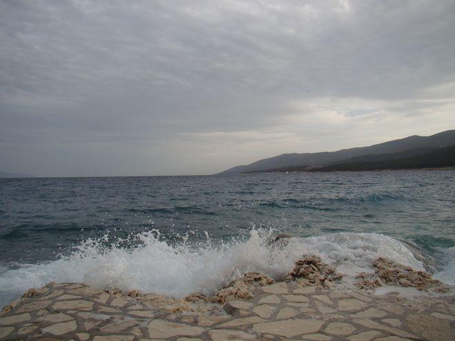 Plaża w Rabacu w Chorwacji