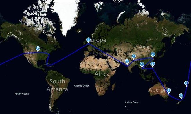 Zarys planowanej podróży dookoła świata w wykonaniu rybniczan