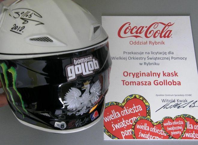 Licytowany będzie również kask Tomasza Golloba