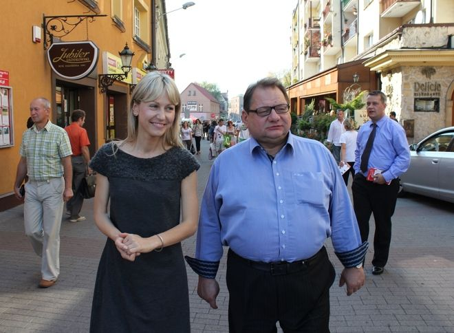 Na rynku do głosowania na SLD namawiał Ryszard Kalisz.