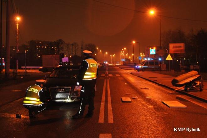 38-letni wodzisławianin spowodował śmiertelny wypadek w Rybniku, KMP Rybnik
