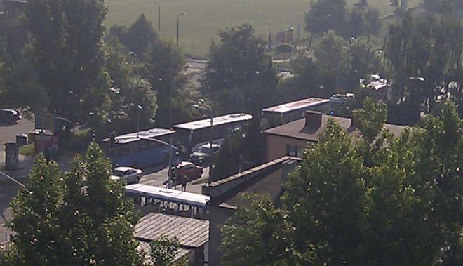 Zderzenie autobusów na ul. Budowlanych
