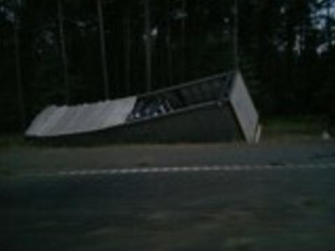 Zdjęcie wysłał nam jeden z przejeżdżających tędy kierowców.