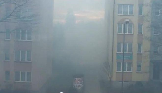 Smog w Rybniku był widoczny gołym okiem