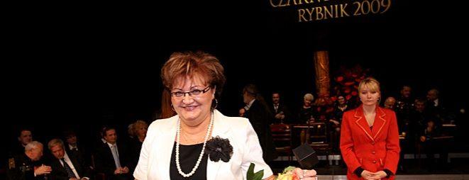 Grażyna Kohut z nagrodą Czarny Diament